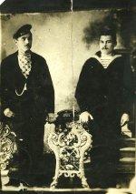 """Мой прадед (справа)боцман Разиньков Устин (х.Пяткино) в период службы 1901-1903 годы на крейсере """"Аврора"""""""